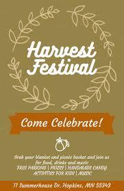 Holiday Flyer Creator For A Harvest Festival 869e