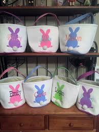 personalized easter bunny basket personalized basket personalized easter bucket