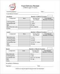 Delivery Receipt Form Template