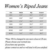Nasky Womens Ripped Skinny Jeans High Waisted Slim Fit