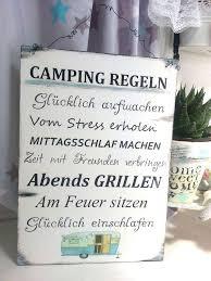 Camping Regeln Holzschild Für Den Wohnwagen Reisen Wooden Sign
