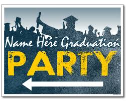 Custom Graduation Party Sign With Arrows