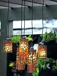 living home outdoors battery operated led gazebo chandelier outdoor chandelier lamp shades target