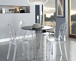 acrylic dining table classy set round perspex and chairs acrylic dining table room chairs