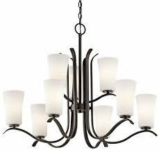 kichler lighting armida olde bronze chandelier 2 tier w 9 light 100w new 594 00
