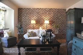 diy super easy faux brick wall do it