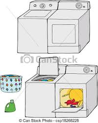 washing machine and dryer clipart. washing machine and dryer - csp18268228 clipart