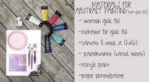 view in gallery materials required for the gorgeous diy abstract painting project