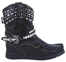 el vaquero wedge boots leather yara punk el vaquero black