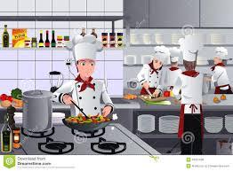 busy restaurant scene. Scene Inside Restaurant Kitchen Busy