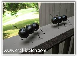 Golf Ball Decorations Craft Klatch ATTACK OF THE GIANT ANTS Recycled Golf Ball Ants 99