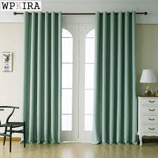 Grüne Farbe Polyester Solide Vorhänge Für Wohnzimmer Navy Blau
