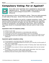 compulsory voting for or against persuasive essay assignment  compulsory voting for or against persuasive essay assignment teachervision