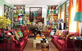 Living Room  Best Bohemian Living Room Design With Nice Wall Bohemian Living Rooms