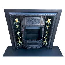 gorgeous antique fireplace insert