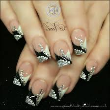 Black And White Acrylic Nail Designs - cpgdsconsortium.com