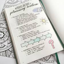 Day Tracker Planner My Bullet Journal Planning Routine Boho Berry Boho Berry