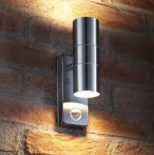auraglow pir motion sensor up down outdoor wall security light warminster stainless steel