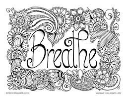 Small Picture Free Coloring Pages for Pain Management Adult coloring Breathe