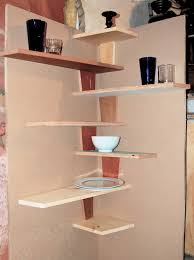wood corner shelves wall mounted spacesaver small kitchen spaces using diy wood floating corner