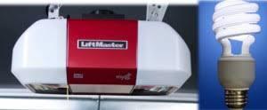 garage door opener bulbCan I use energy efficient light bulbs in my garage door opener