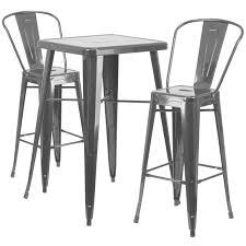 outdoor bar stools cheap. Metal Indoor-Outdoor Bar Table Set With 2 Barstools Outdoor Stools Cheap