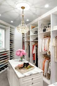 decoration luxury closet designs design flower and islands of with small chandelier pictures walk in