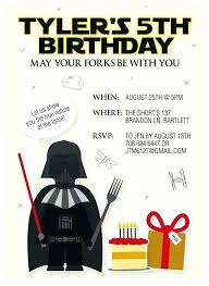 Star Wars Birthday Party Invitations Template Free Templates
