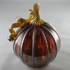 orange glass pumpkins fake white pumpkins hand blown glass gourds