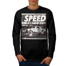 Auto Tshirt Design Details About Wellcoda Vintage Racing Speed Car Mens Long Sleeve T Shirt Auto Graphic Design