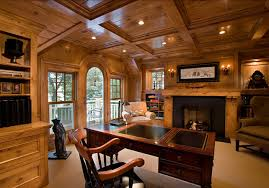 office paneling. masculine home office paneling
