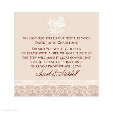 Gift Registry Template Registry Information On Wedding Invitations Invitation