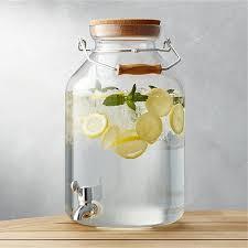acrylic drink dispenser 5 gallon beverage dispenser with spigot