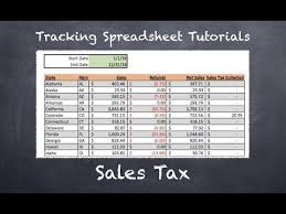 Tracking Spreadsheet 2 0 Tutorial Sales Tax