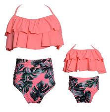Icooltech Baby Girls Bikini Swimsuit Set Family Matching