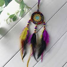 handmade dream catcher with feathers wall hanging decoration home ornament craft
