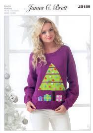 Jumper Pattern Best Ladies Christmas Tree Jumper JB48 Knitting Pattern