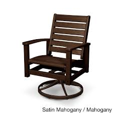 swivel and rocking chairs. POLYWOOD-Signature-Aluminum-and-Polywood-Swivel-Rocker-Chair Swivel And Rocking Chairs