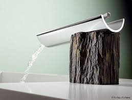 designer bathroom faucets. marti srgnatur collection: bath faucets that combine modern design with rustic materials - if it\u0027s hip, here designer bathroom