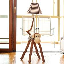 cool floor lamps kids rooms. Unique Floor Brown Color Fabric Soft Kids Floor Lamps With One Light Throughout Cool Rooms