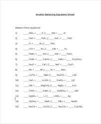 balancing chemical equations worksheet 1 answers unique equation balancing math equations worksheet