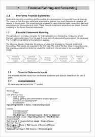 30 Pro Forma Income Statement Example Tate Publishing News