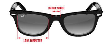 Ray Ban Wayfarer Size Chart What Ray Ban Size Am I Sunglasses And Style Blog