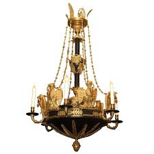 antique bronze empire period chandelier circa 1810 1820 chb3 for