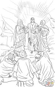 Jesus Transfiguration coloring page | Free Printable Coloring Pages