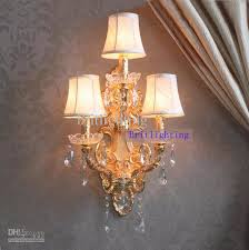 wall lamp shades modern crystal home large sconce gold 0