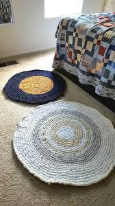 picture of circular rag rug crocheted