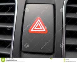 Red Security Light On Dashboard Red Hazard Light In Car Stock Image Image Of Danger 26556887