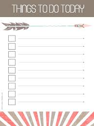 Free Printable To Do List Templates Cute Paper Lists Colorful