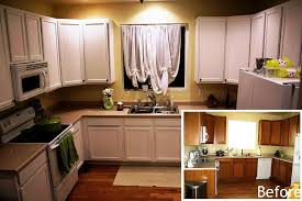 Perfect Painting Cherry Kitchen Cabinets White Before And For Design Inspiration